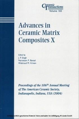 Advances in Ceramic Matrix Composites X