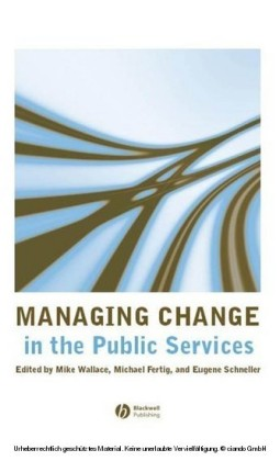 Managing Change in the Public Services