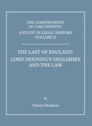 Study in Legal History Volume II; The Last of England