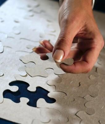 Puzzleteile des Lebens