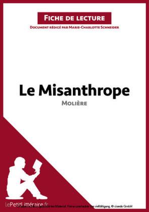 Le Misanthrope de Molière (Fiche de lecture)