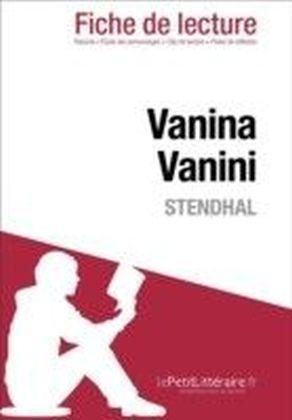 Vanina Vanini de Stendhal (Fiche de lecture)