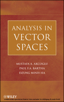 Analysis in Vector Spaces,