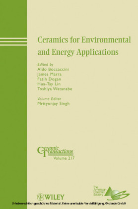 Ceramics for Environmental and Energy Applications