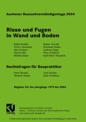 Aachener Bausachverständigentage 2004