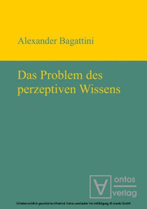 Das Problem des perzeptiven Wissens