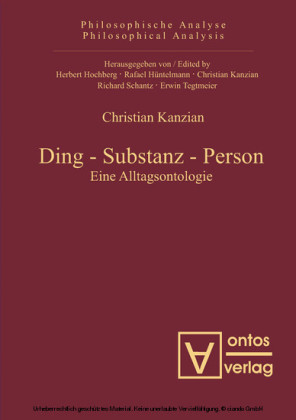 Ding - Substanz - Person