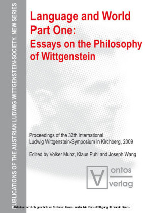 Essays on the philosophy of Wittgenstein