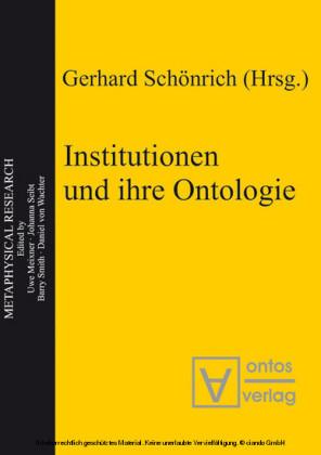 Institutionen und ihre Ontologie