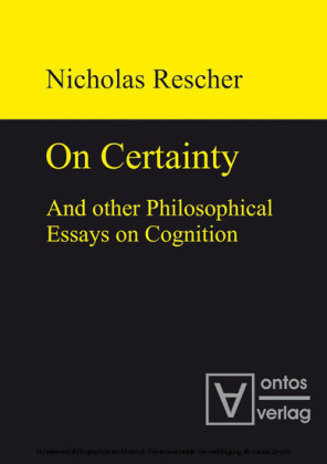 On certainty and other philosophical essays on cognition