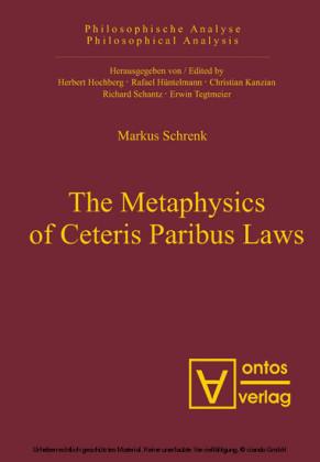 The Metaphysics of Ceteris Paribus Laws