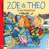 Zoe & Theo in der Bibliothek, Deutsch-Persisch Cover