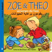 Zoe & Theo versorgen die Tiere, Deutsch-Arabisch Cover