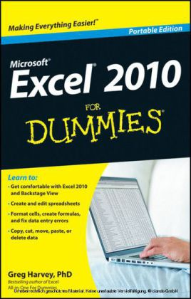 Excel 2010 For Dummies,