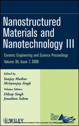 Nanostructured Materials and Nanotechnology III