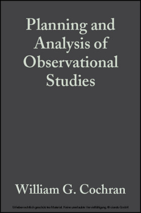 Planning and Analysis of Observational Studies
