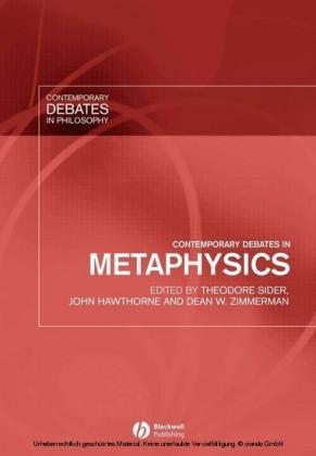 Contemporary Debates in Metaphysics