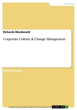 Corporate Culture & Change Management