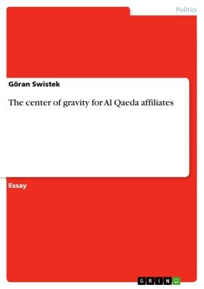 The center of gravity for Al Qaeda affiliates