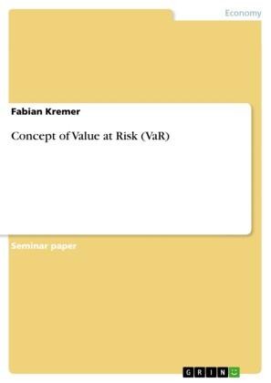 Concept of Value at Risk (VaR)