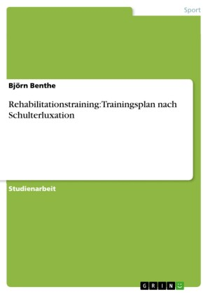 Rehabilitationstraining: Trainingsplan nach Schulterluxation