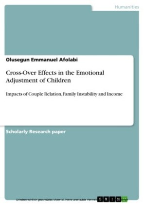 Cross-Over Effects in the Emotional Adjustment of Children