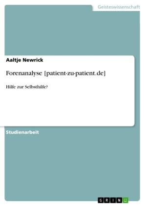 Forenanalyse [patient-zu-patient.de]