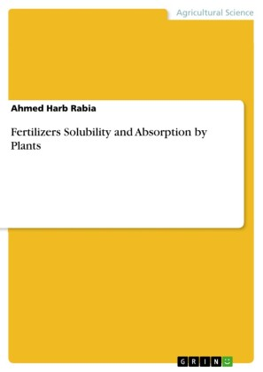 Fertilizers Solubility and Absorption by Plants