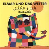 Elmar und das Wetter, deutsch-arabisch Cover