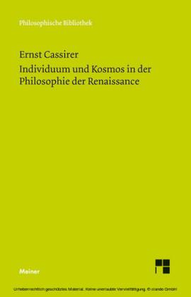Individuum und Kosmos in der Philosophie der Renaissance