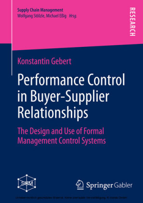 Performance Control in Buyer-Supplier Relationships