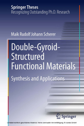 Double-Gyroid-Structured Functional Materials