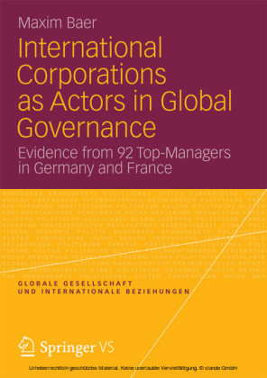 International Corporations as Actors in Global Governance