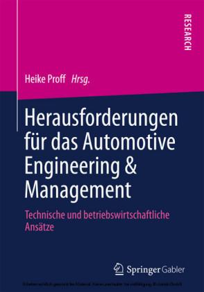 Herausforderungen für das Automotive Engineering & Management