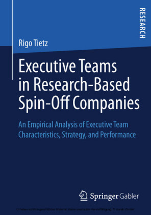 Executive Teams in Research-Based Spin-Off Companies