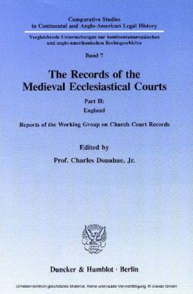The Records of the Medieval Ecclesiastical Courts.