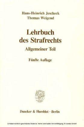 Lehrbuch des Strafrechts.