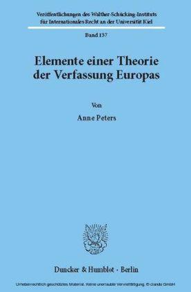 Elemente einer Theorie der Verfassung Europas.