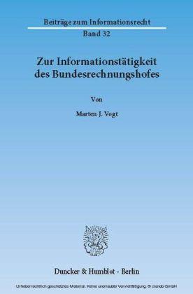 Zur Informationstätigkeit des Bundesrechnungshofes.