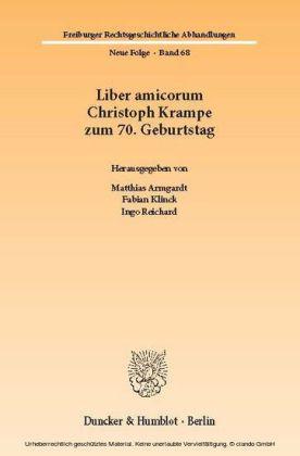 Liber amicorum Christoph Krampe zum 70. Geburtstag.