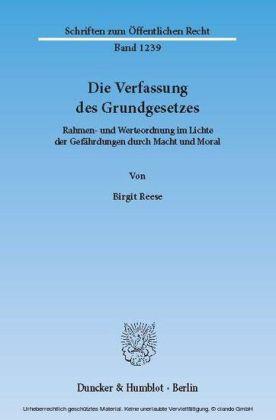 Die Verfassung des Grundgesetzes.