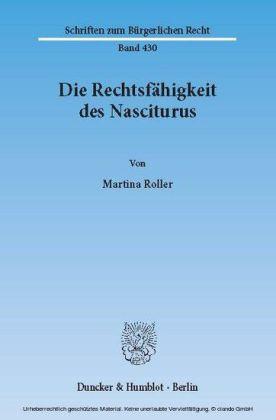 Die Rechtsfähigkeit des Nasciturus.