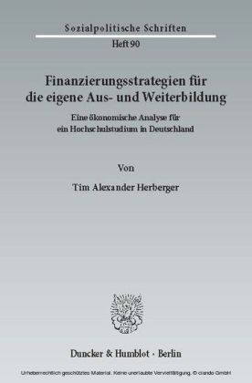 Finanzierungsstrategien für die eigene Aus- und Weiterbildung.