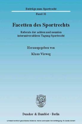Facetten des Sportrechts.