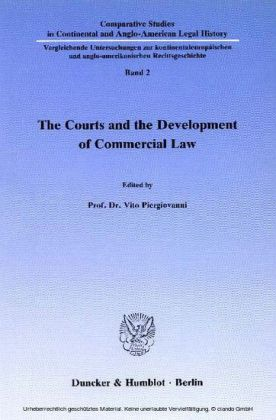 The Courts and the Development of Commercial Law.