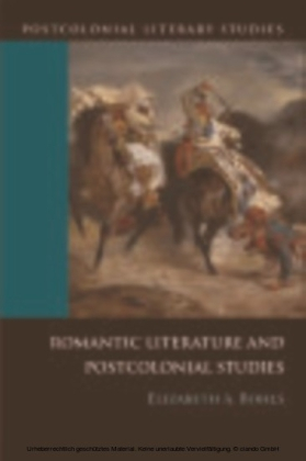 Romantic Literature and Postcolonial Studies