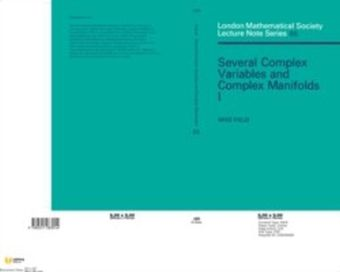 Several Complex Variables and Complex Manifolds I