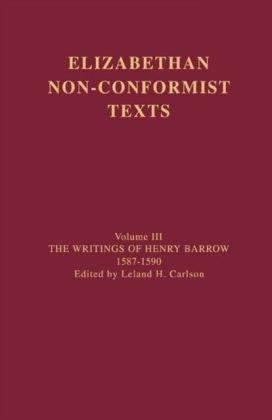Writings of Henry Barrow, 1587-1590