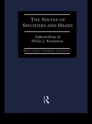 Syntax of Specifiers and Heads