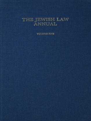 Jewish Law Annual Volume 5